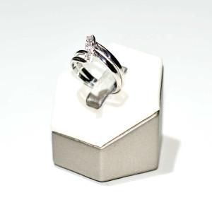 Anello oro bianco con diamanti 1
