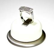 Anello oro bianco con diamanti 2