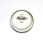 Anello oro bianco con diamanti e decorazioni a cuore