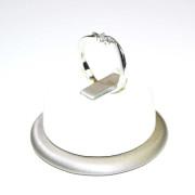 Anello trilogi oro bianco con diamanti 2