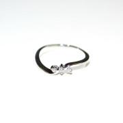 Anello trilogi oro bianco con diamanti 3