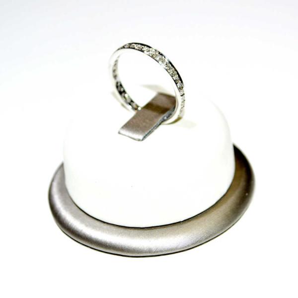 Anello veretta oro bianco 2