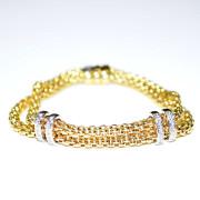Bracciale in oro giallo con diamanti