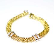Bracciale in oro giallo con diamanti2