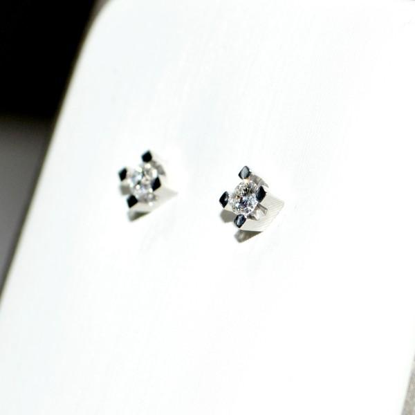 Orecchini in oro bianco con diamanti 2