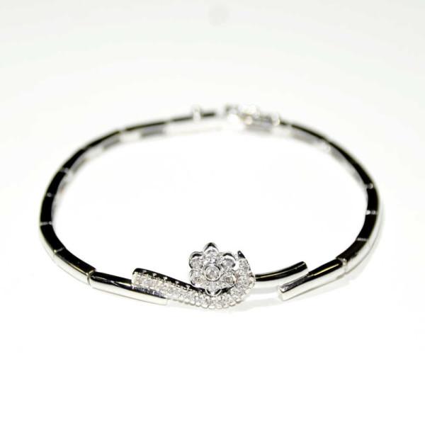Bracciale oro bianco con diamanti